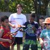 Having fun with Coach Chris!